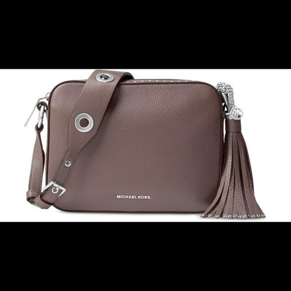 25365831a448 New Michael Kors Brooklyn Lg Leather Camera Bag